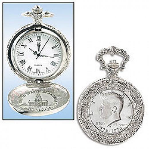JFK Half Dollar Pocket Watch
