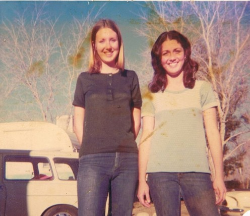 Susan (15 years) and best friend Theresa Palmdale, California