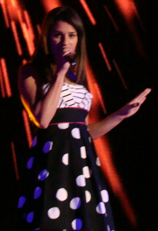 Lea Michele on the Glee Live Tour, 2011.