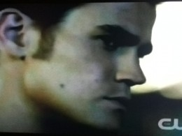 Evil Stefan looks pensive, but he is really trying to hear an update about Damon and Elena.