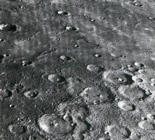 Craters on the surface of the Mercury