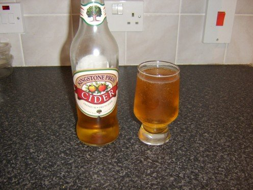 Chilled English cider