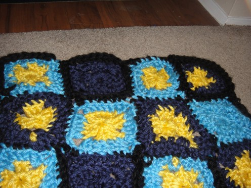 my Afghan,not finished yet and has flaws!