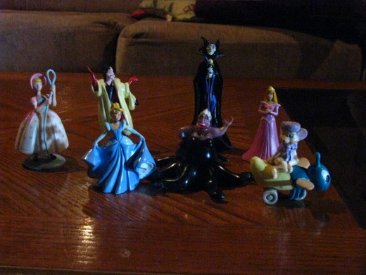 PVC figures.  A very small portion of just my Disney collection.