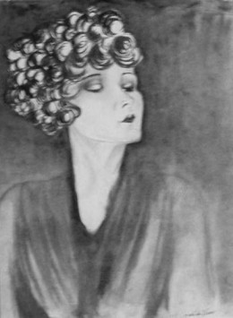 "Original works, Charcoal,  ""Timeless Elegance"" by Catherine Welborn"