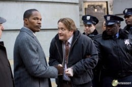 Jamie Foxx shakes the hands of a murderer.