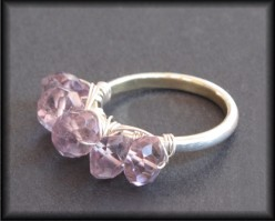 Lavender Amethyst Wire-Wrapped Sterling Silver Ring by Bespangled Jewelry
