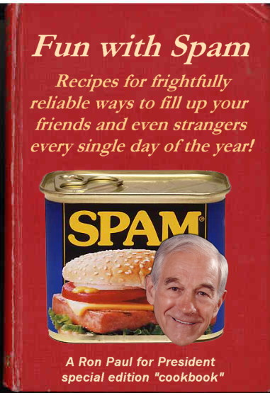 "Ron Paul ""Fun With Spam"" book"