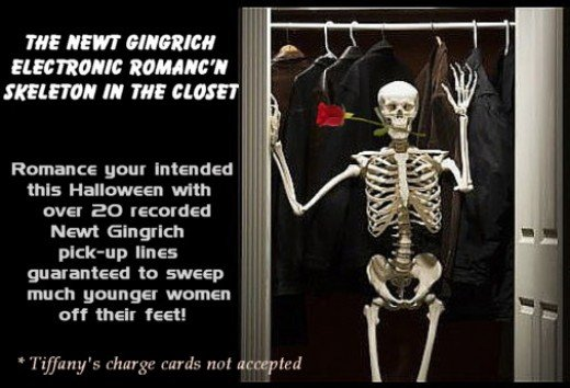 The Newt Gingrich Electronic Romancn Skeleton in the Closet