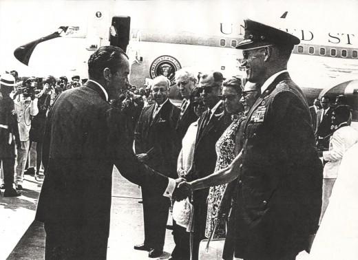 President Nixon in Bangkok, Thailand in 1969.