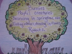 A springtime/Easter coloring picture with poetry inside used as a decoration. (If you are going to 'pin' this photo, please include the link to this page. Thanks!)