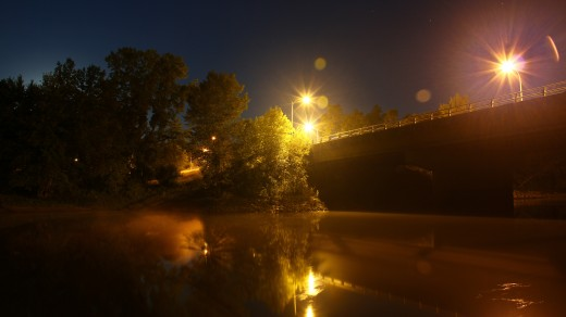 The College Drive Bridge in Brainerd, MN. 5:00AM- Shot in Manual on a Canon60D. F-7.1 Exposure- 30 Sec ISO- 200 Focal- 18mm No Flash