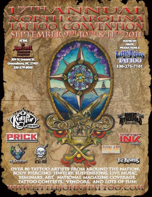 Coverage of the 17th annual north carolina tattoo convention for Little johns tattoo greensboro nc