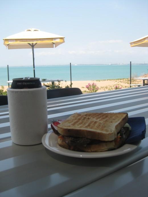 Lunch looking towards Darwin