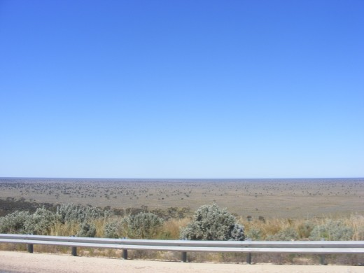 Part of the Nullabor. The Roe Plain from Madura Pass W.A.