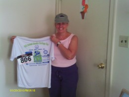 The T-shirt I received for running the local 5K.