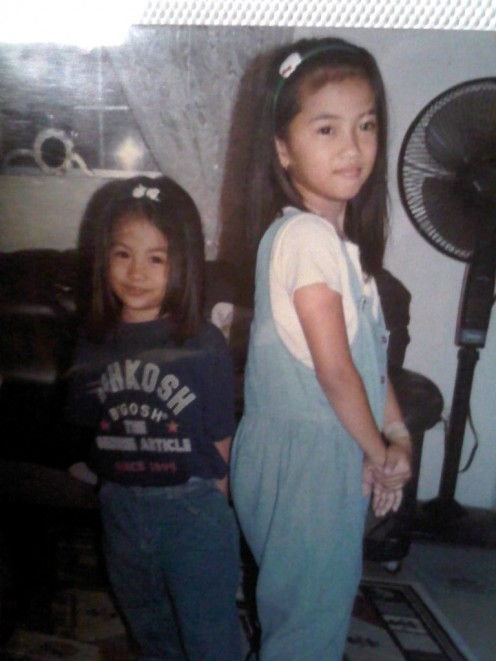 sarahand her ate (pat) when they were kids..
