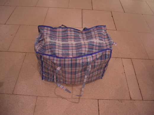 Kashmiri suitcase containing 3 panniers