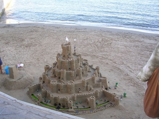 Hmmm, maybe sandcastles instead of snow forts....