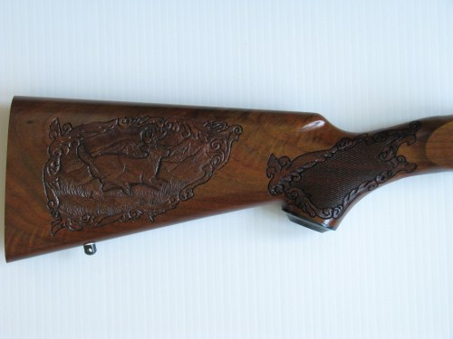 Hand Carved Gun Stock