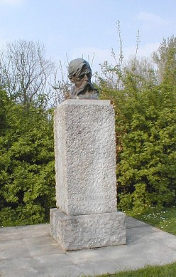 Bust of Emile Verhaeren at Roisin, near Caillou qui bique