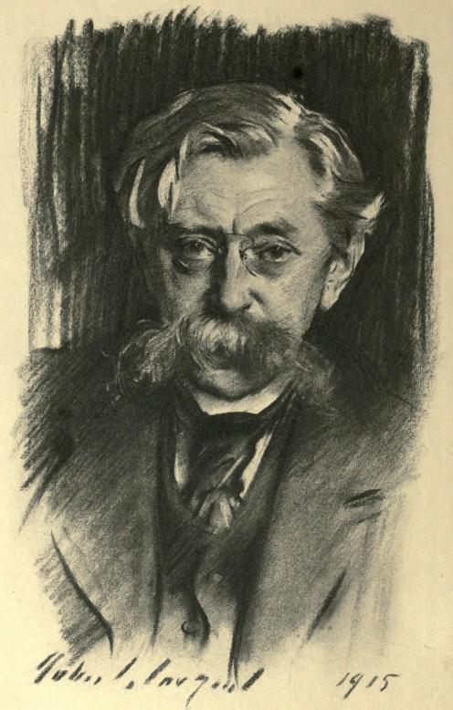 Portrait of Belgian poet Emile Verhaeren, by John Singer Sargent