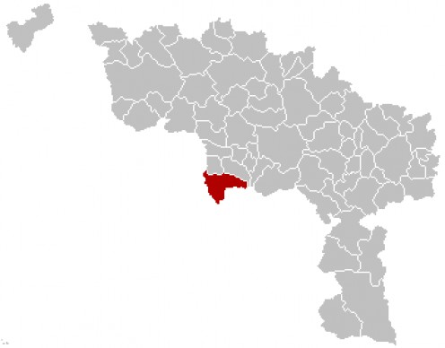 Map location of Honnelles, in Belgium's Hainaut province