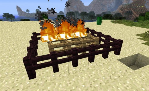 Fire proof nether fences demonstrating their skills.