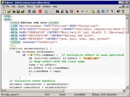 Hypertext Markup Language (HTML) Example...