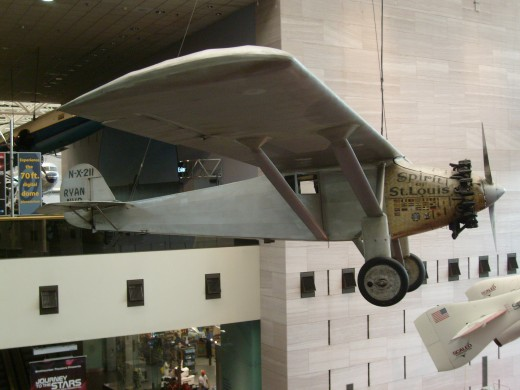 The Spirit of St. Louis, Charles Lindbergh was the first man to make a successful transatlantic crossing form Long Island, New York to Paris, France