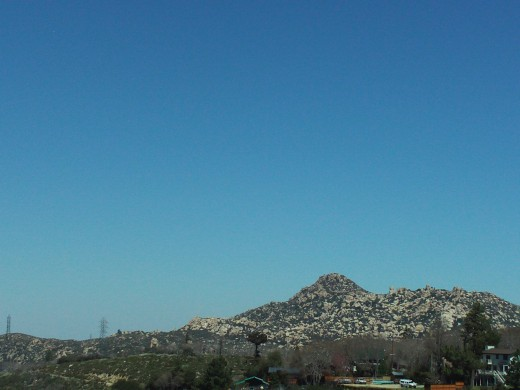 The view of the Pinnacles up in the San Bernardino Mountains.