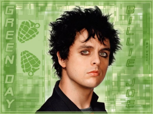 Billie Joe Armstrong spiky hairstyle.