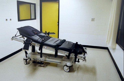 The death chamber where Troy Davis was administered a lethal injection.