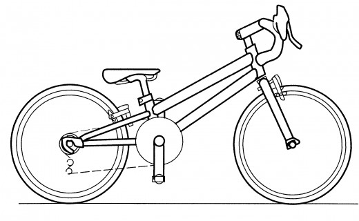 A concept design of a micro bike designed for dwarfs.