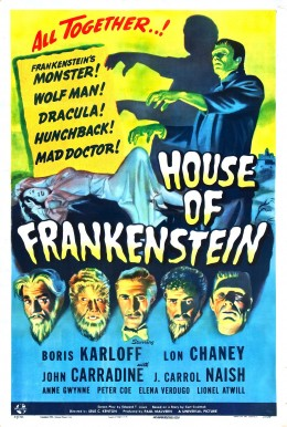 The amazing poster for House of Frankenstein