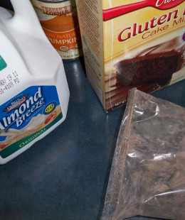 A Curious Beginning for Gluten Free Brownies--from this Above to that Below. Follow the Directions!