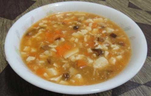 Vegetarian Mapo Tofu Soup