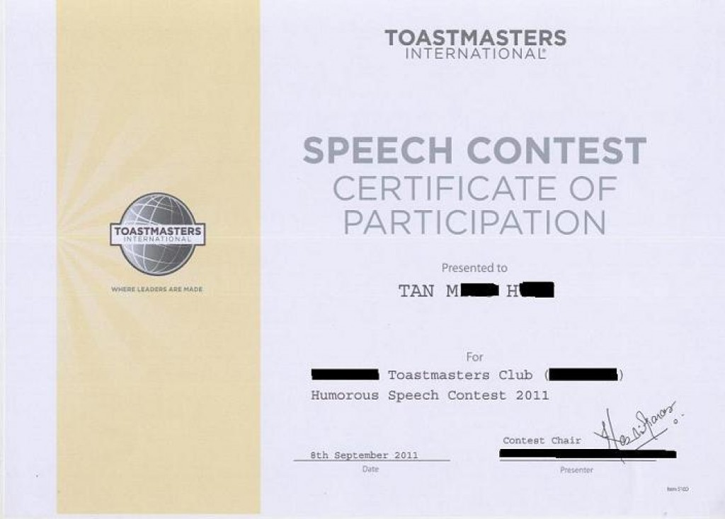 My Toastmaster winning Humorous speech at club Level ...