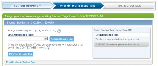 Assigning Backup Tags