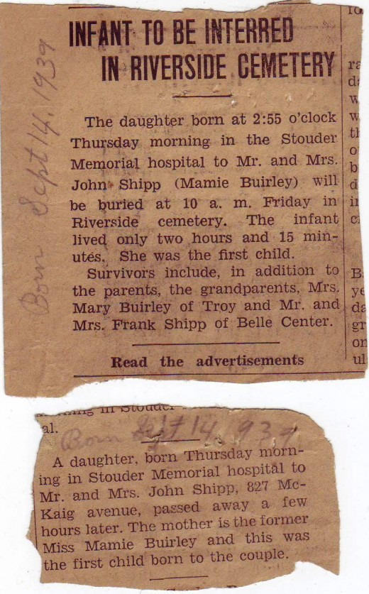My grandfather's aunt passed away when I was a teenager.  Until I found this article I was completely unaware that she and Uncle John had any children.