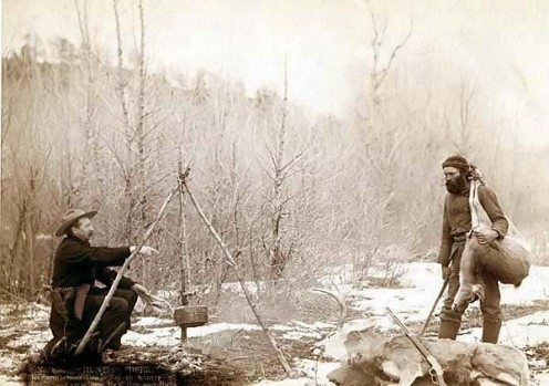 "A Deer Hunt near Deadwood in winter 1887 and '88 ""No Copyright Infringement Intended."""