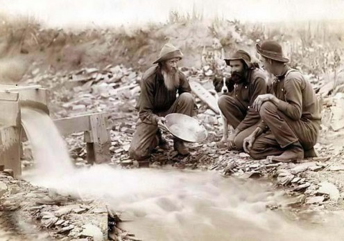 "Miners Panning for Gold in the Dakota Territory ""No Copyright Infringement Intended."""
