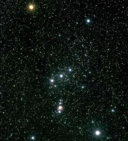 Rigel is the bright star at bottom right in the Orion constellation.