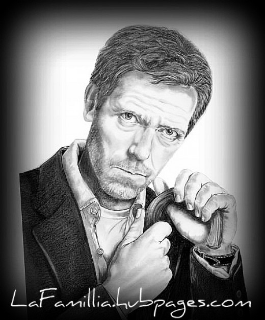 "Auto-portrait of medical genius in TV Show known as ""Dr.House""."