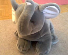 Here's a random photo of a stuffed elephant.  Clearly I am running out of photo ideas, too.