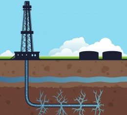 Fracking illustration.