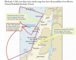 Map show anti-missile ranges and capabilities of Hamas and Hezbollah