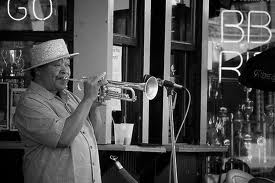 W C Handy and his horn