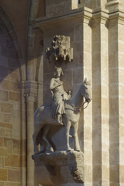 Der Bamberger Reiter / The Bamberg Rider, the symbol of  Bamberg, Germany.