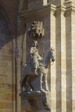 Der Bamberger Reiter / The Bamberg Rider, the symbol of  Bamberg, Germany.